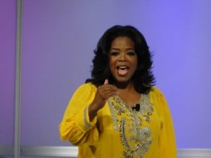 Oprah on NYC stage, Live Your Best Life Weekend