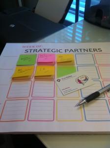 create a strategic partners contact matrix to grow sales