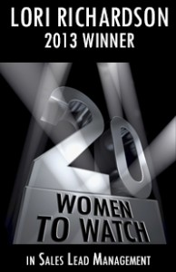 20 Women to Watch Sales Lead Management 2013